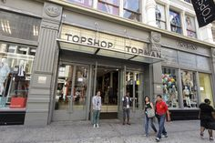 Nordstrom to Open Topshop Departments - A view outside of Topshop.