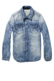 Scotch Shrunk Jeans shirt lm . Zomercollectie voor jongens 2014 te koop bij www.koflo.nl