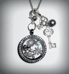 30 mm Nautical Floating Memory Locket by CraftedBeachTreasure, $20.00