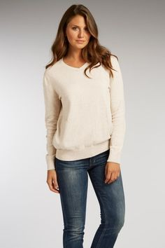 Meet our perfectly fitting, timeless v-neck sweater. Made from soft, organic Peruvian cotton. It is made completely free of chemicals, including dyes. Available in two, naturally occuring cotton colors.