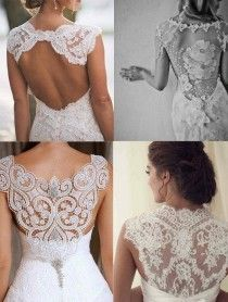 #wedding dress #lace  NOTE: top left design is best