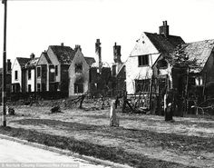 Aftermath: A row of bomb-battered houses in The Avenues shows the damage done by the bombing raids-Norwich Cathedral City, Uk Photos, Luftwaffe, World War I, Norfolk, Great Britain, Wwii, United States, Europe