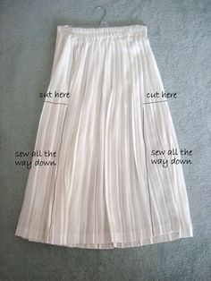 @: DIY-pleated dress..note to self:but do I want a pink pleated dress?