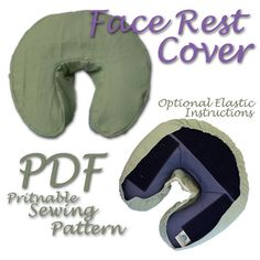 Face Rest Cover DIY PDF Sewing Pattern by JasmineArtWorks on Etsy