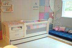 Berço com Tela Transformável (BE1200): 197cm(C) x 93cm(H) x 83cm(P) on Intercasa Móveis Infantis e Juvenis  http://www.intercasamoveis.com.br/moveis-infantis/bercos/#sg5