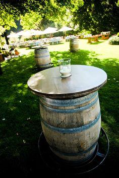 wine barel cocktail tables