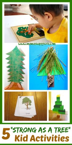 This post concludes the 25 Hands-On Nativity Lessons for Kids series. Please enjoy 5 Strong as a Tree kid activities that include the Montessori tree puzzle. - www.mamashappyhive.com