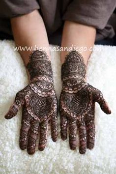 Henna on hands before going to a  Music concert....