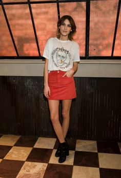 Alexa chung style. vintage cramps tee