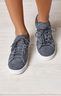ef50cfa7a52e adidas Women s Gray Campus Stitch And Turn Sneakers at PacSun.com Adidas  Campus