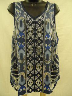Plus Size 3X Top STRETCH Cami BURNOUT Tank HI-LO Shirt Trendy Shell Sexy   NWT…