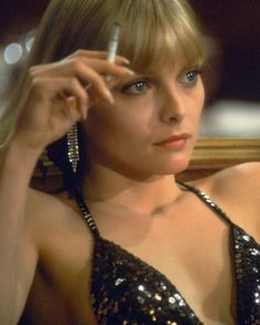 Michelle Pfeiffer in the movie Scarface.