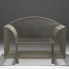 How High the Moon armchair, 1986 by Shiro Kuramata (nickel-plated wire mesh)