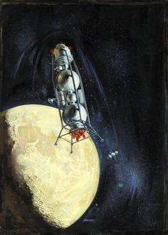 70s Sci-Fi Art -- Nope. This is from the 50's. It was a model spaceship that I remember making. Wish I still had it!