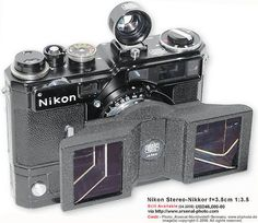 Special Finder for Nikon's Stereo-Nikkor f=3.5cm 1:3.5 moderate wideangle lens (Introduced: Dec.1956~discontinued: approx. 1960).