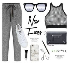 """""""YESSTYLE.com"""" by monmondefou ❤ liked on Polyvore featuring Topshop, Dsquared2, Balenciaga, adidas Originals, Beauty and yesstyle"""