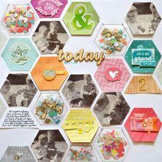 #papercraft #scrapbook #layout.   the colors and the confetti http://americancrafts.typepad.com/.a/6a00d8357de06869e2017d4183f84f970c-pi