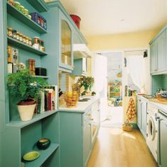 I like this color but don't know if I could handle in on the cupboards... maybe the wall. :)