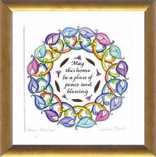 House gift English Blessing for the Home Framed Print with Jerusalem Flowers Number 1111, House Blessing, House Gifts, Bindi, Jerusalem, Natural Remedies, Leo, Twin, Blessed