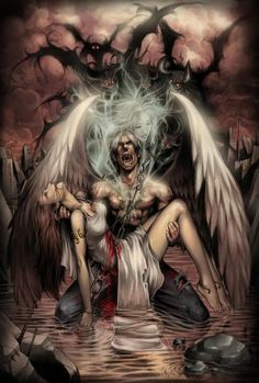 In every angel a demon hides . In ever demon a angel strides Dark Fantasy Art, Fantasy Artwork, Fantasy Kunst, Dark Art, Fantasy Witch, Fantasy Love, Demon Art, Fantasy Couples, Arte Obscura