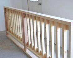 DIYing a Wood Handrail - this would be great for a rail around the kids playhouse or around the porch as well. Wood Porch Railings, Porch Handrails, Porch Railing Designs, Wood Handrail, Porch Wood, Diy Porch, Diy Deck, Railing Ideas, How To Build Porch Railing