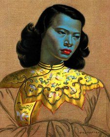 Chinese Girl portrait goes to auction.   Vladimir Tretchikoff's original painting of the Chinese Girl, believed to be the world's most reproduced print, is to go on sale in London.    The Russian artist, who died in 2006, claimed that by the end of his career he had sold half a million large-format reproductions of the print worldwide.