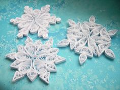 WANAKA snowflakes - Paper quilled ornaments - Christmas decoration - Handmade gift