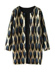 Leopard Pattern Chic Style Long Sleeve Cardigan img