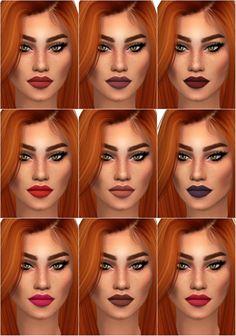 Velvet Matte Lipstick at Hallow Sims via Sims 4 Updates