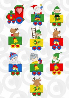 11171 sweet train with christmas objects gift box Christmas Clipart, Christmas Images, Christmas Train, Christmas Time, 2 Clipart, Cartoon Toys, Decor Crafts, Craft Projects, Applique