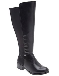 The search is over! Our extra wide calf riding boot gives you the sophisticated equestrian style you crave with a stretchy back to accommodate the curves you love. Comfortable wide widths with easy side zipper entry. lanebryant.com