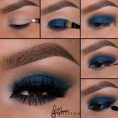 Olho azul noite