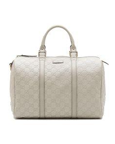 Gucci joy medium boston bag off-white