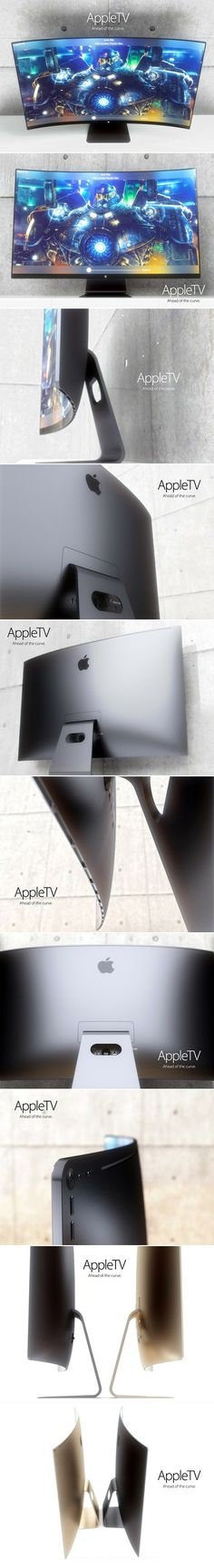 Here are some leaked pictures of the all-new Apple TV display.