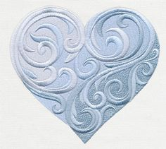 Baroque Natura - Heart - Thread List | Urban Threads: Unique and Awesome Embroidery Designs
