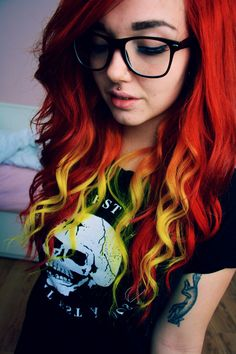 Red and yellow hair