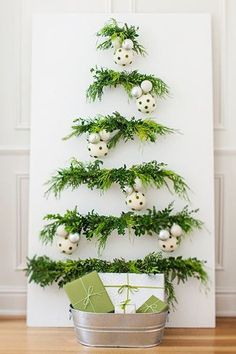 Flat Lay - We're Loving These Christmas Tree Alternatives - Photos #xmastreedecorations