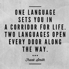 Learning a foreign language is not only learning different words ...