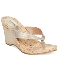 Style&Co. Chicklet Wedge Thong Sandals, Only at Macy's - Sandals - Shoes - Macy's Wedge Flip Flops, Flip Flop Shoes, Wedge Sandals, Shoes Sandals, Me Too Shoes, Open Toe, High Heels, Wedges, Sandals Online
