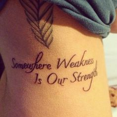 My love of Paramore really makes me want to get a tattoo of their lyrics! This one is awesome!