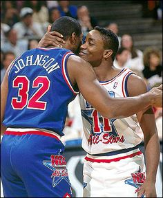 Magic Johnson and Isiah Thomas in Orlando, 1992