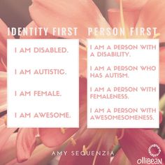Amy Sequenzia on DISABLED #saytheword campaign and the use of Person First Language and Ableism.