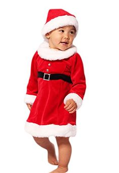 a5f2b46e551e Le Top Baby Girls Miss Santa Holiday Dress with Rhinestone Buckle