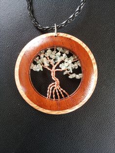 Aquamarine Tree of Life in Oak and Red Cedar wood + Free Shipping Worldwide ~  Aquamarine Tree of Life Jewelry,Crystal Tree of Life by OurArtyCreations on Etsy