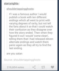 And this is how famous authors should annihilate their foes. | 23 Ways To Defy Your Enemy, According To Tumblr