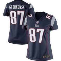 4bf440f8a Nike Women s New England Patriots Rob Gronkowski Limited Team Color Jersey