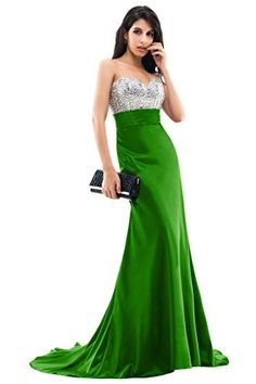 Sunvary Gorgeous Rhinestone Mermaid Formal Evening Gowns Prom Dresses 2015 Size 4 Green * Click for Special Deals #HomecomingDresses2017