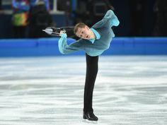 Peter Liebers (GER) performs in the mens short program figure skating.
