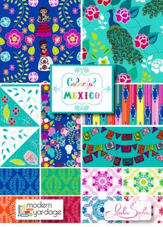 Colorful Mexico fabric collection by Anneline Sophia for Modern Yardage
