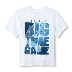 Short Sleeve 'I've Got Big Time Game' Graphic Tee